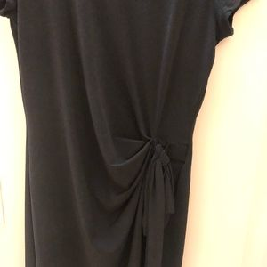 fun black jersey dress